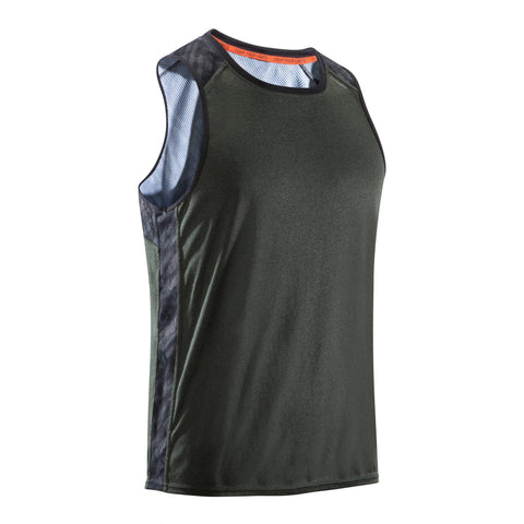 Men's Lightweight Breathable Boxing Tank Top 500,dark khaki