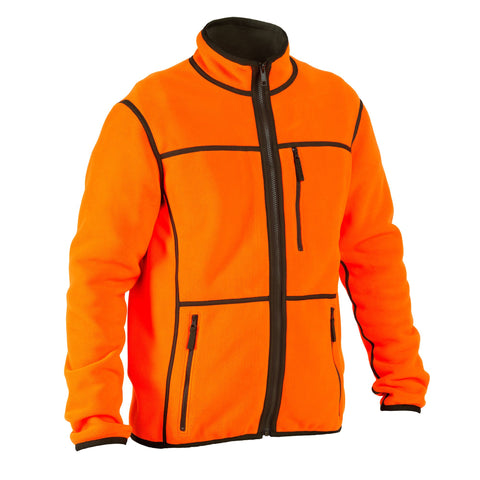 Men's Hunting Reversible Fleece 500,safety vest orange