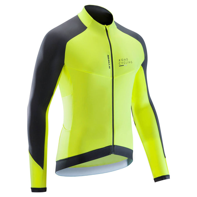 Men's Cycling Long Sleeved Jersey RoadC 900 Yellow,yellow, photo 1 of 9