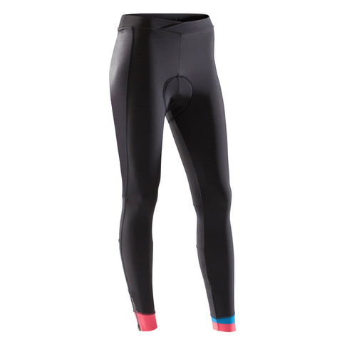 Triban 900, Bibless Cycling Tights, Women's,black