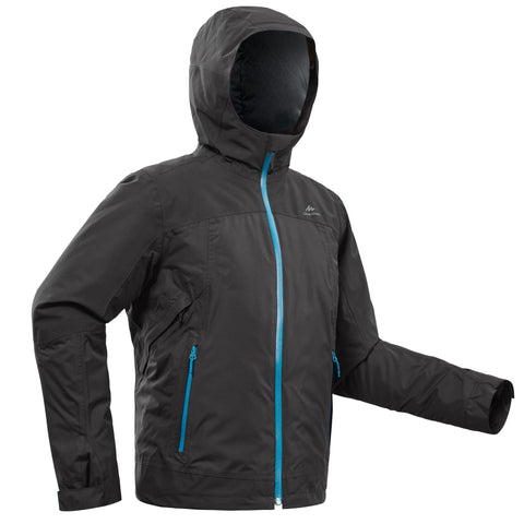 Boys' Snow Hiking Jacket Warm 3-in-1 X-Warm 8-14 Years SH500,carbon gray