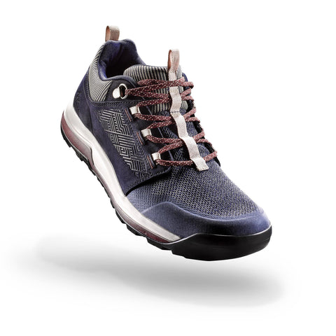 Women's Nature Hiking Boots NH500,navy blue