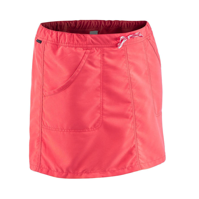Women's Country Walking Skort NH100,strawberry pink, photo 1 of 9