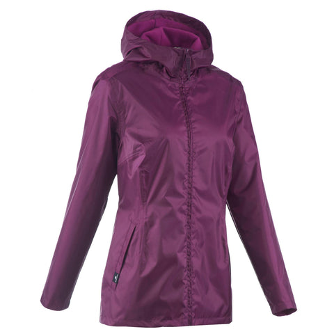 Women's Snow Hiking Warm Jacket SH100,purple