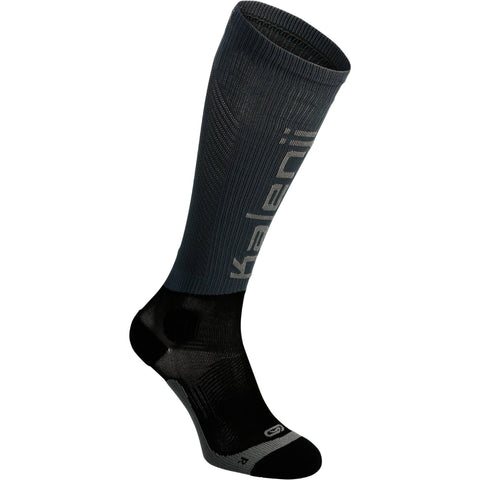 Running Compression Socks Kanergy KIPRUN,dark chocolate truffle