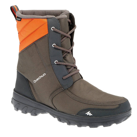 Quechua SH300, Warm and Waterproof Snow Hiking Boots, Men's,dark gray