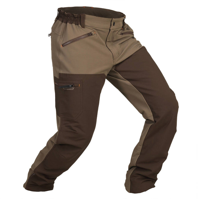 Men's Hunting Reinforced Pants 900,coffee, photo 1 of 10