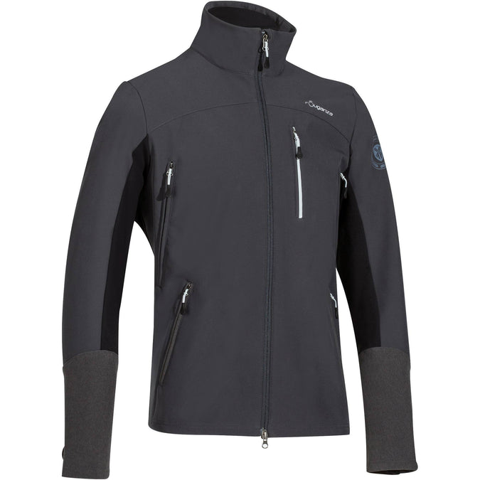 Men's Horse Riding Softshell Jacket,carbon gray, photo 1 of 28