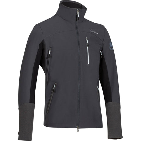 Men's Horse Riding Softshell Jacket,carbon gray