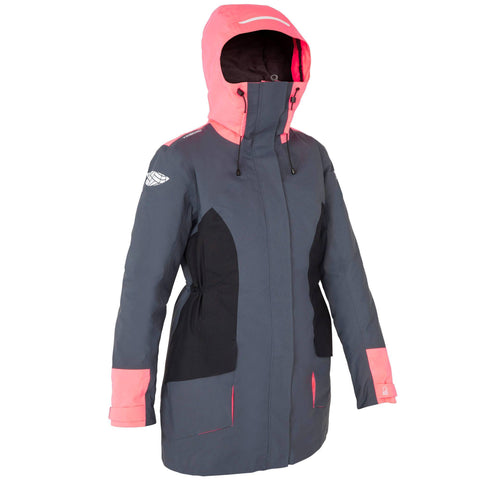 Tribord 500, Sailing Parka Jacket, Women's,gray