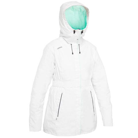 Women's Sailing Oilskin Jacket 100,snowy white
