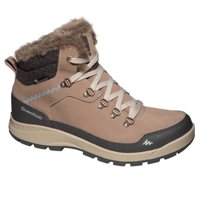Women's Snow Hiking X-Warm Mid Socks SH500,brown, photo 1 of 8
