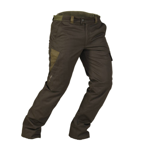 Men's Hunting Warm Waterproof Pants 500,dark green