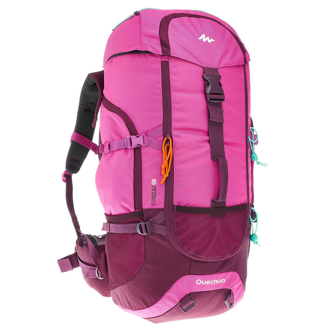 Mountain Backpacking Pack Forclaz 50L,mauve, photo 1 of 23