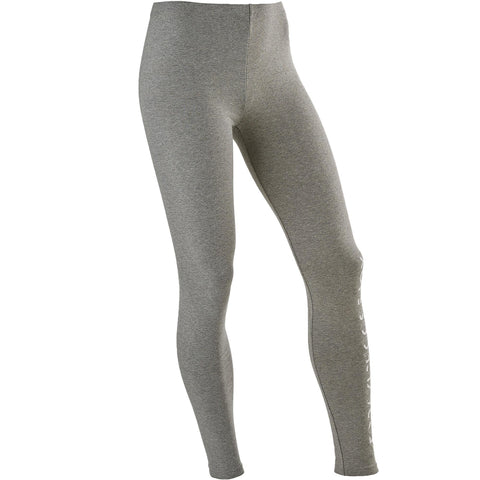 Domyos 100, Gym Leggings, Girls',pewter