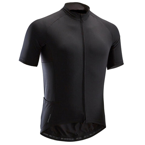 Road Cycling Touring Jersey Short-Sleeved Warm Weather RC 100,