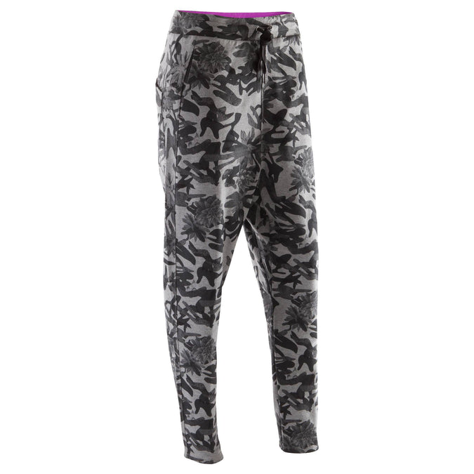 Women's Dance Peg-Top Bottoms,gray camouflage, photo 1 of 12