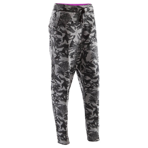Women's Dance Peg-Top Bottoms,gray camouflage