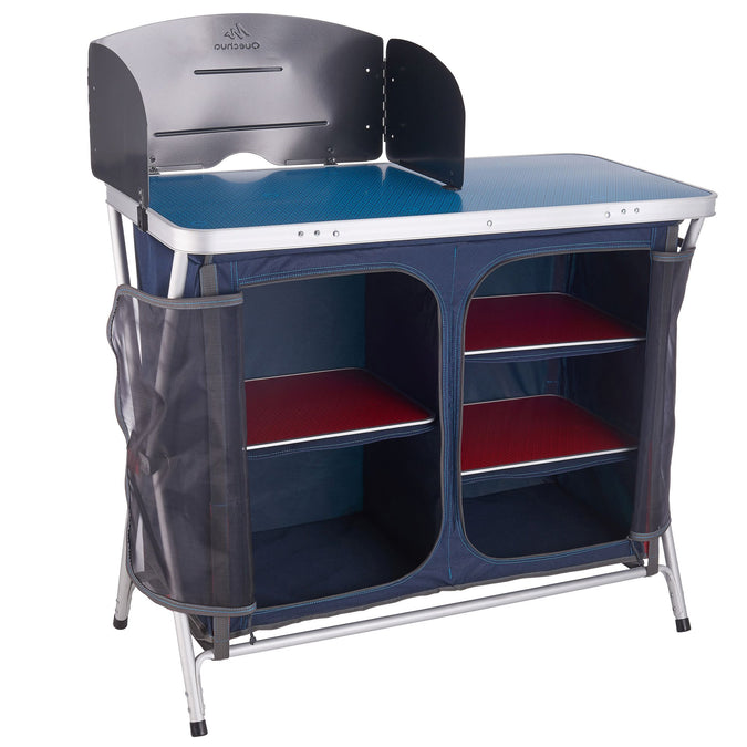 Comfortable Folding Kitchen Unit for Camping,blue, photo 1 of 14