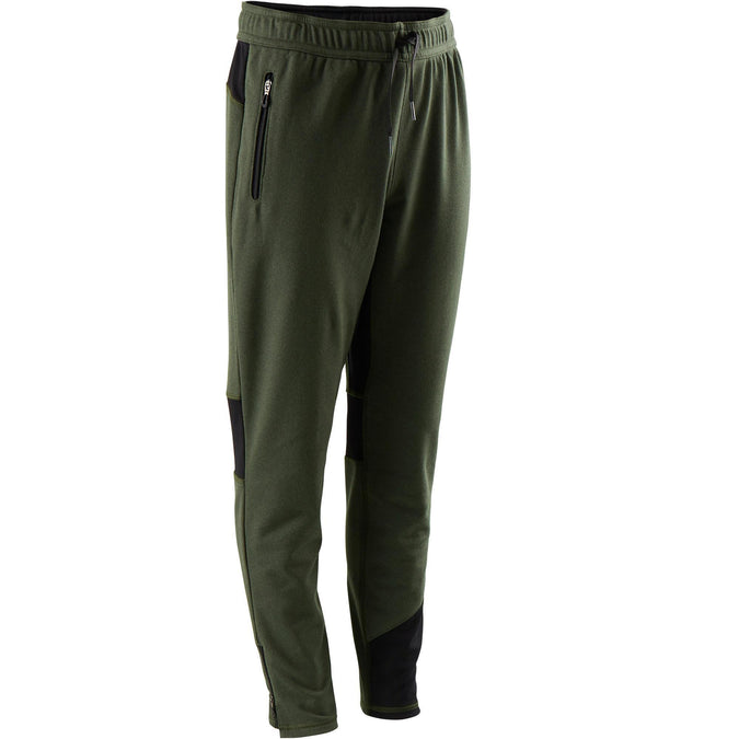 Boys' Gym Bottoms Warm Breathable Slim-Fit S900,black olive, photo 1 of 8