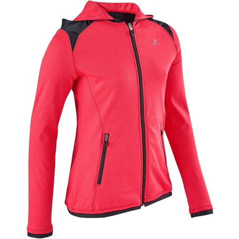 Girls' Gym Hooded Jacket Warm Breathable S900,