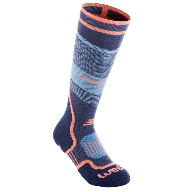 Wedze 300, Ski Socks, Kids',storm blue, photo 1 of 5