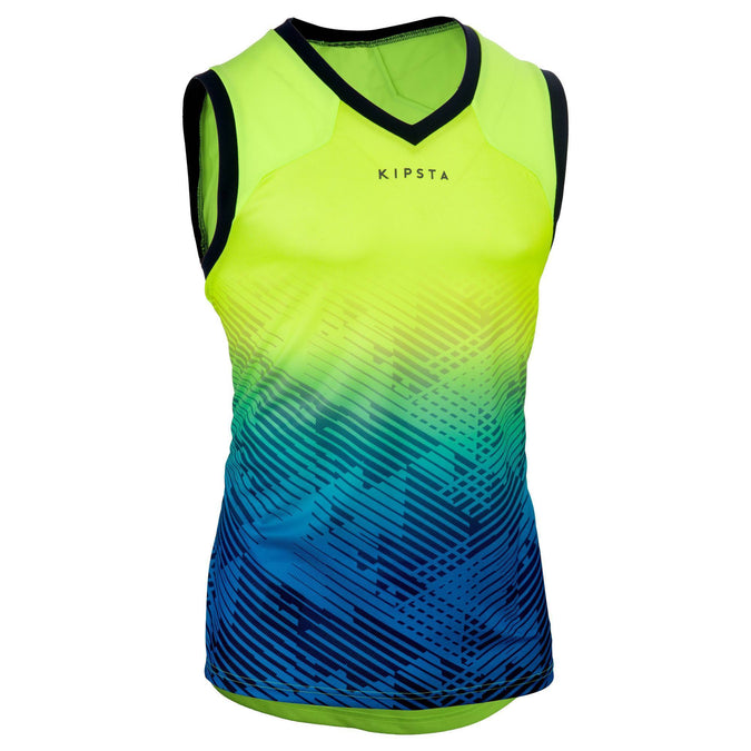 Men's Rugby Tank Top,neon lemon lime, photo 1 of 12