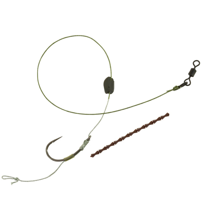 Carp Fishing Leader Floating Hook SN,olive green, photo 1 of 6
