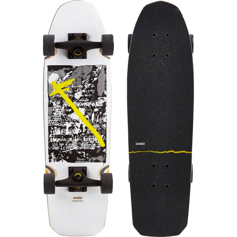 City Thrasher Cruiser Skateboard,snowy white