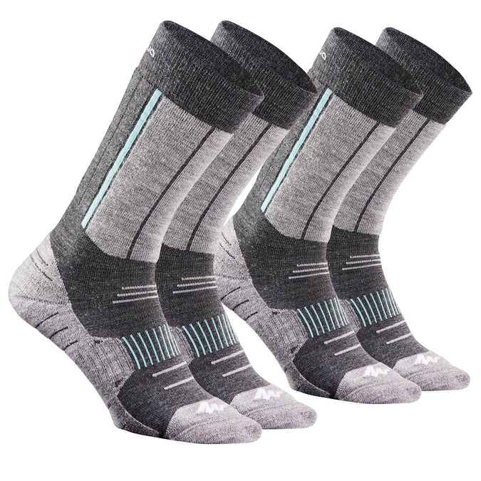 Adult Snow Hiking Mid X-Warm Socks SH520,turquoise green, photo 1 of 5