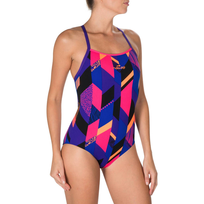 Women's Ultra Chlorine Resistant One-Piece Swimsuit Jade,pink, photo 1 of 6