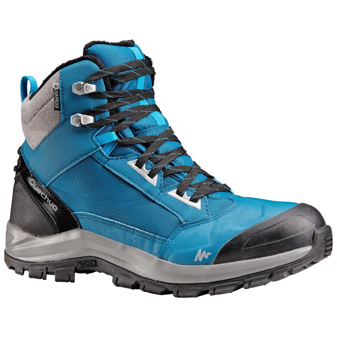 Quechua SH520, Waterproof Warm Mid Snow Hiking Boots, Men's,prussian blue, photo 1 of 9