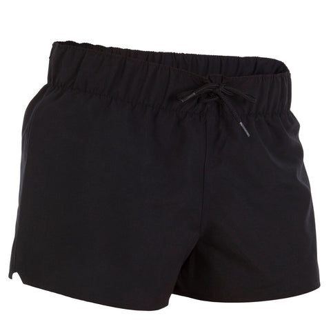 Women's Elasticated Waistband Boardshorts Tana,black