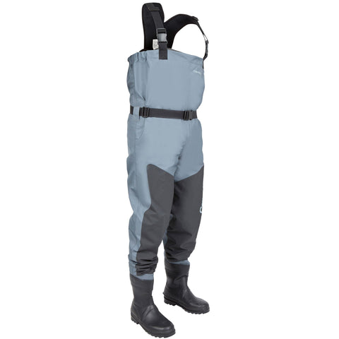 Fishing Breathable Wader Boots Caperlan,magnet gray