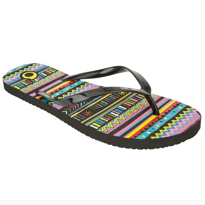 Women's Wave Sports Flip-Flops TO 100,black, photo 1 of 9