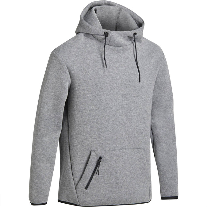 Men's Gym & Pilates Hooded Sweatshirt Spacer,gray-blue, photo 1 of 12