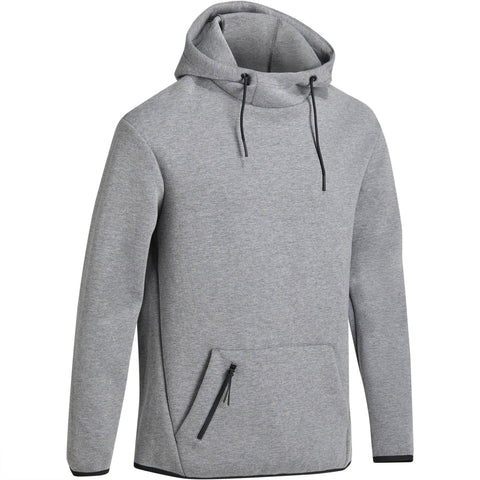 Men's Gym & Pilates Hooded Sweatshirt Spacer,gray-blue