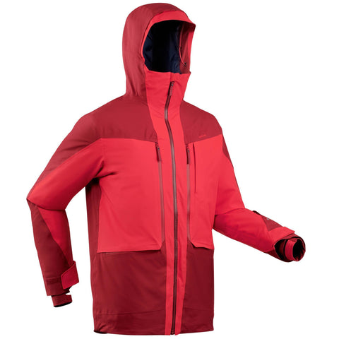 Wedze FR500, Freeride Ski Jacket, Men's,bordeaux