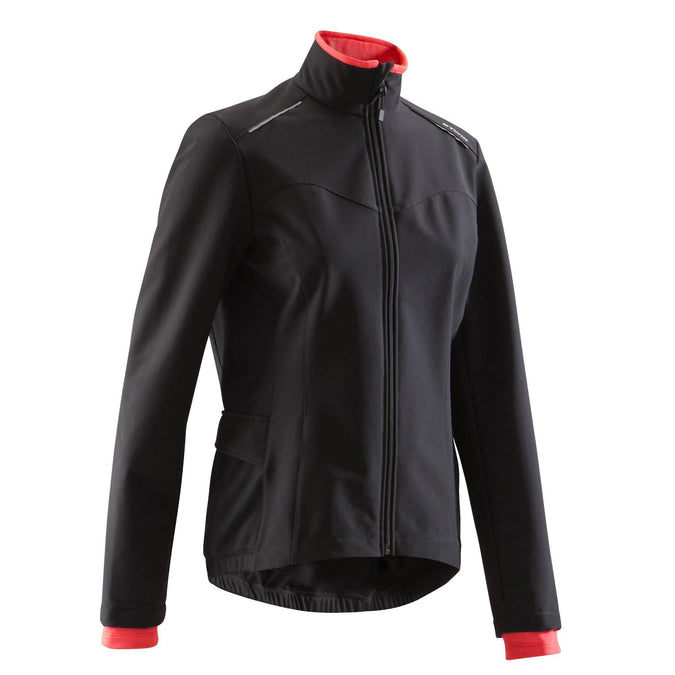 Women's Cycling Jacket 100,black, photo 1 of 11