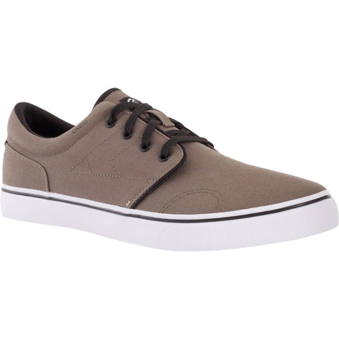 Adult Skateboarding Longboarding Low-Top Shoes Vulca 100,khaki brown