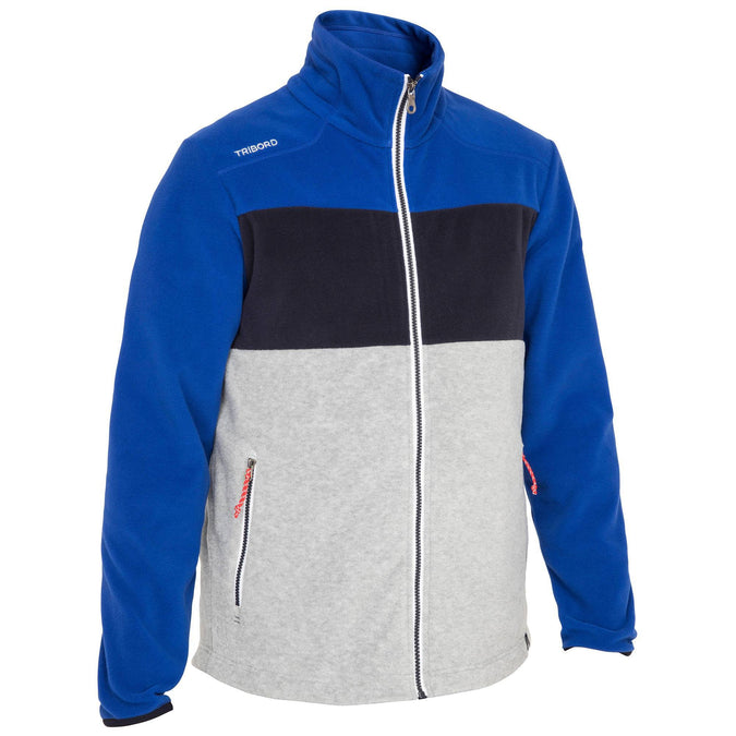 Men's Tricolor Sailing Fleece RACE,blue, photo 1 of 7