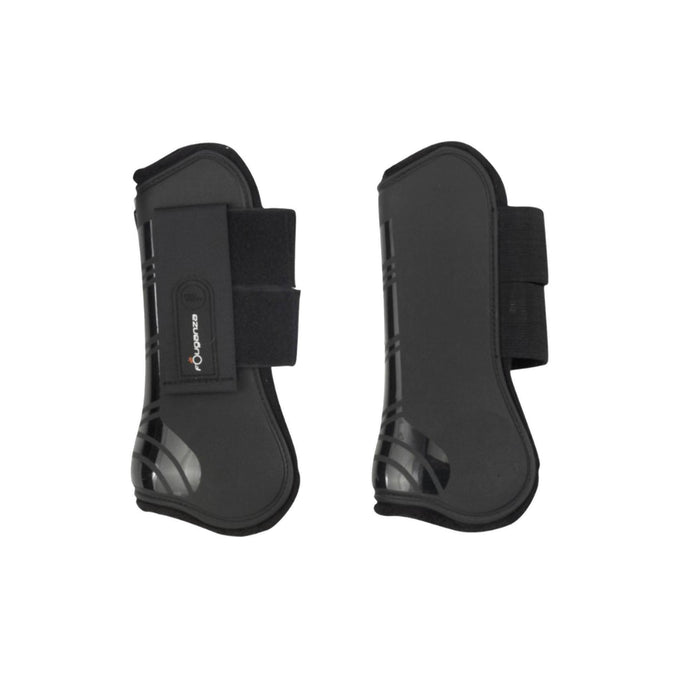 Horse Riding Tendon Boots For Horse Or Pony Twin-Pack,black, photo 1 of 2