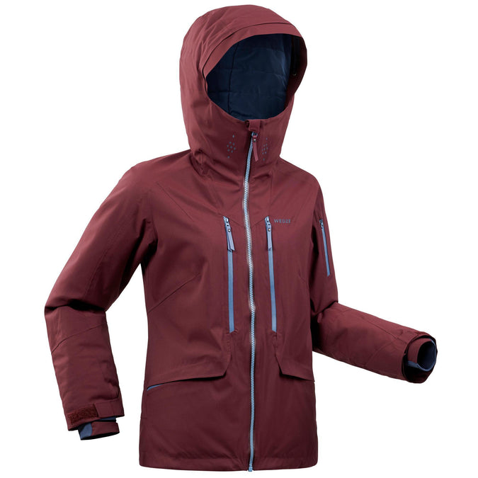 Women's Freeride Ski Jacket FR500,dark chocolate truffle, photo 1 of 21