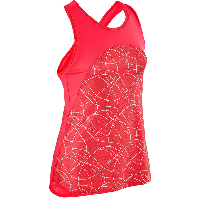 Girls' Gym Breathable Tank Top S900,pink, photo 1 of 7