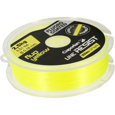 Fishing High-Strength Line - 250 m,neon yellow
