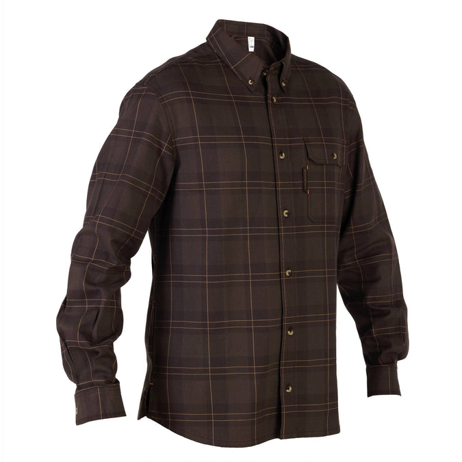 Hunting Shirt Plaid Taiga 100,brown, photo 1 of 3