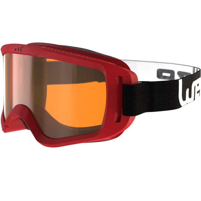 Babies' Skiing/Sledging Fine-Weather Goggles,red, photo 1 of 6