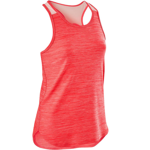 Girls' Gym Tank Top Breathable Synthetic S500,