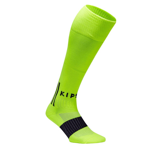 Soccer Knee-High Socks F500,neon lemon lime