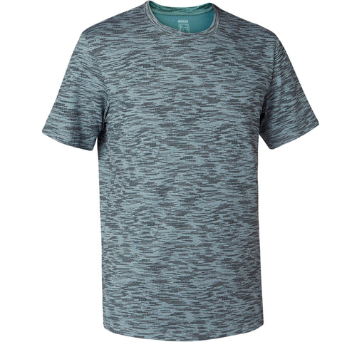 Men's Pilates and Gentle Gym Regular-Fit T-Shirt 500,dolphin gray